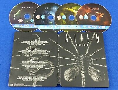 blu-ray ALIEN ANTHOLOGY / QUADRILOGY Steelbook Edition UK Exclusive REGION FREE