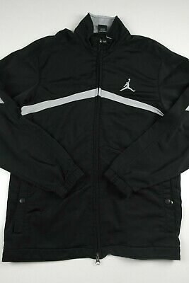 69ac3214e71f Air Jordan Mens Track Jacket Size M Full Zip Athletic Long Sleeve Black  Jumpman