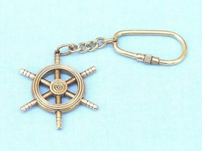 Brass Collectible Nautical Ship Wheel Solid Brass Key chain