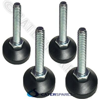 M10 Threaded Feet / Foot For Catering Prep Work Bench Table Legs Adjustable X 4