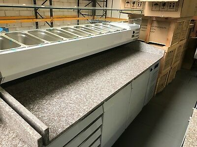 Pizza Making Table  2045 X 800 X1415mm  Without 9 Containers)
