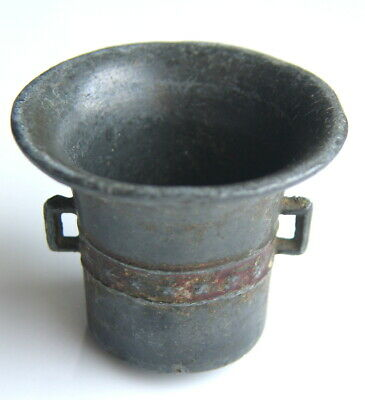 Antique small pewter Mortar Poland Germany Europe vintage