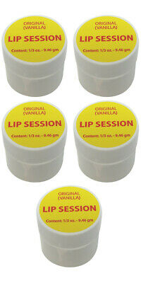 Lip Session Lip Balm (Cold Sores, Dry Chapped Lips) Original Vanilla Flavor (5)