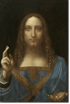 Leonardo da Vinci - Salvator Mundi (1500) Painting Photo Poster Print Art Gift