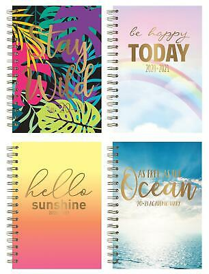 2019-2020 Academic Diary A5 Week To View Spiral Bound Hardback Planner Diary