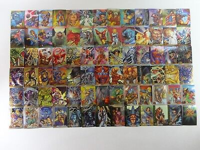 Fleer Ultra X-Men 1995 Chromium Shiny Trading Card Set RARE Vintage Marvel 95