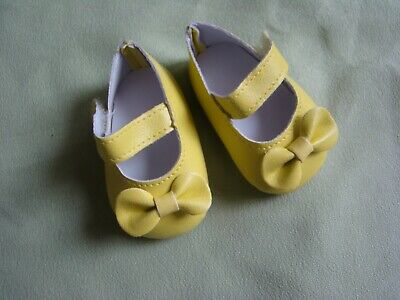 Baby clothes GIRL premature/tiny<5-7.5lbs/2.3-3.4kg yellow bow strap shoes 7cm