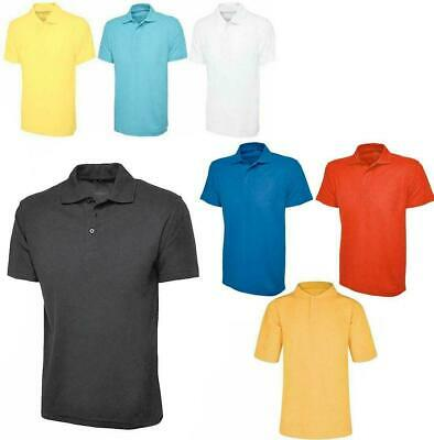 New Mens Lightweight Polo T Shirts  Breathable Sports Work Casual Shirt Top