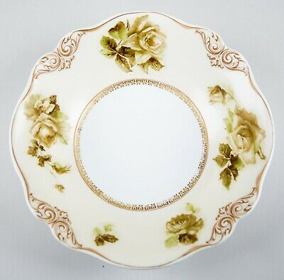Hermann Ohme Silesia Pattern 84 Old Ivory Round Vegetable Bowl Fine Porcelain
