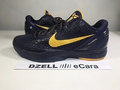 watch 574af c1327 New 2011 Nike Kobe Bryant Vi 6 Away Lakers Purple Promo Sample 13.5 Size  14.5
