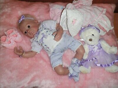 """"""" So Cute """" Bountiful Baby Reborn Doll 17 Inches In Great Condition"""