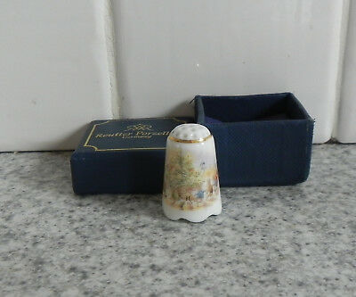 Reutter Porcelain Germany Beatrix Potter Peter Rabbit & Friends Thimble / Boxed