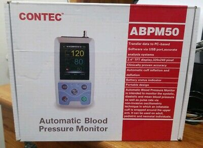 CONTEC ABPM50 Arm 24h NIBP Ambulatory Blood Pressure Monitor+PC Software+adult
