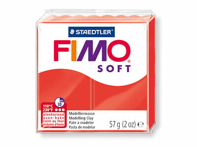6 X Fimo Soft Modelling Clay 56g Block INDIAN RED- 57g Polymer Oven Staedtler