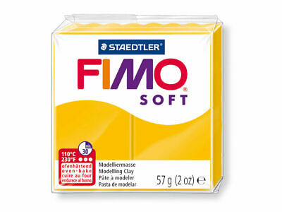 6 X Fimo Soft Modelling Clay 56g Block SUNFLOWER- 57g Polymer Oven Staedtler
