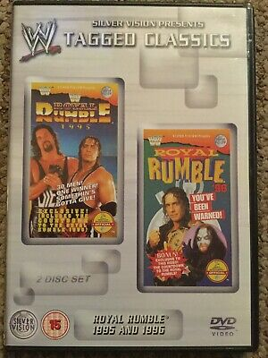 WWE Tagged Classics Royal Rumble 1995 & 1996 DVD (2 Disc Set) WWF RARE
