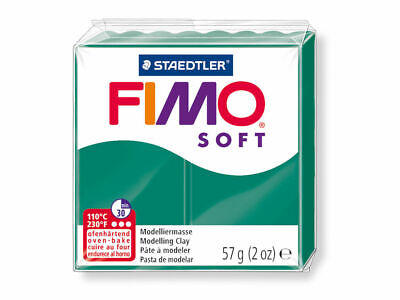 6 X Fimo Soft Modelling Clay 56g Block EMERALD- 57g Polymer Oven Staedtler