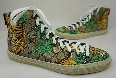 3781c3927e3 Gucci Major Bengal Tiger GG Print High Top Sneaker Shoes Men s Size 9 G  10