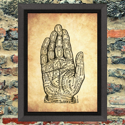 Chiromancy Palmistry Buy 2 Get 1 Free Art Print Antique Style paper Old