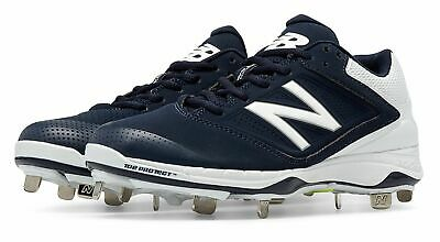 New Balance Low-Cut 4040v1 Metal Softball Cleat Womens Shoes Navy with White