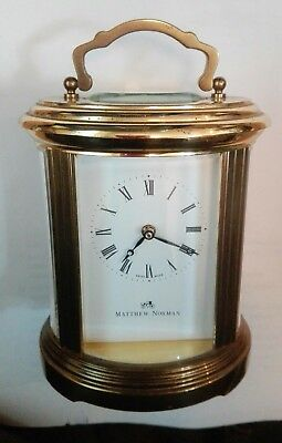 Matthew Norman Ovale Carriage Clock Standard Size