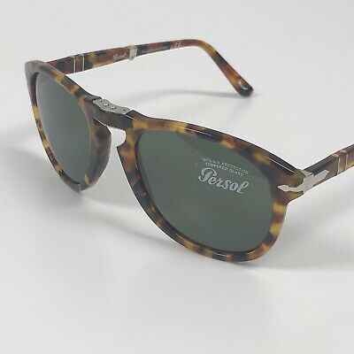 c10c89ed7242 PERSOL 714 1052/31 Madreterra 54mm FOLDING tortoise sunglasses. USA FAST  SHIP