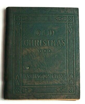 Old Christmas - Washington Irving - Little Leather Library Green Miniature Book