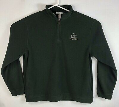 38a8dc84df Mens XL Ducks Unlimited Fleece 1/4 Zip Jacket Sweater Pullover Olive Green  Shirt