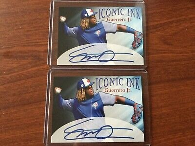 Lot of 2 Vladimir Guerrero JR Auto Rookie Toronto Blue Jays Card RC