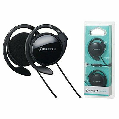 CRESYN C150H Black Earset Headphones Ergonomic Clip Design with Mic
