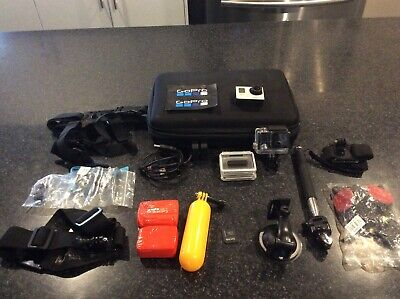 GoPro HERO3+ Black Edition, silver front Camcoder, + lots of accessories