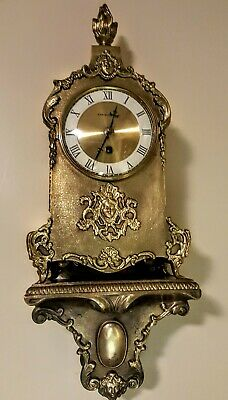 Vintage Brass Westwood 8 Day Windup Mantle Clock with Mounting Stand