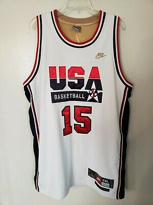 3f46483c840e VTG Nike Authentic NBA Dream Team USA Magic Johnson Jersey Mens 2XL Lakers  Sewn