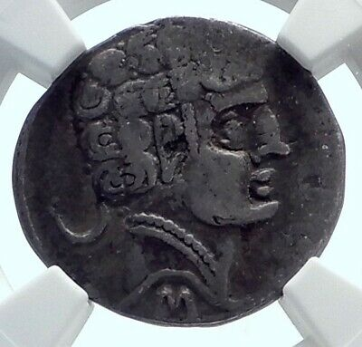 Sekobirikes Spain IBERIA Ancient Silver Denarius Drachm Greek Coin NGC i77661