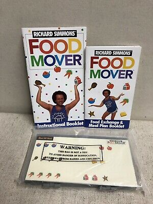 Richard Simmons FOOD MOVER SYSTEM SET -diet foodmover lose weight sweatin oldies