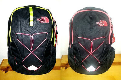 """NEW Womens The North Face Jester Backpack Fits 17"""" Laptop  Black Coral"""