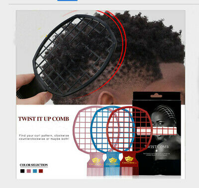 Afro & Twist Comb (Black, Blue,Pink, Red) Barber Favored Tools