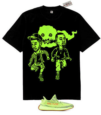 Nwt Fnly94 Kids See Ghosts rapper tshirt  Yeezy Boost 350 V2 Semi Frozen Yellow