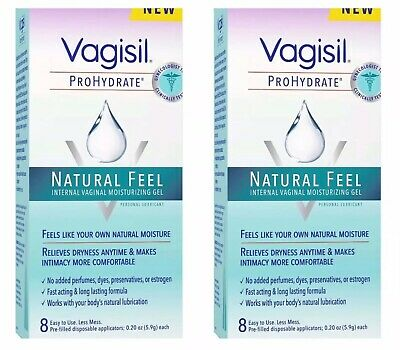 2- Vagisil ProHydrate Natural Feel Internal Lubricant Gel 8 Applicators Ea 04/19