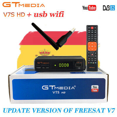 Receptor Satelital V7S GTMedia FREESAT FULL HD 1080p DVB-S2 HD HDMI TV Decoder