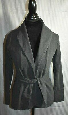 92370917b8799 The North Face Womens Belted Wrap Jacket Cardigan Dark Gray Wonmen's Size  SMALL