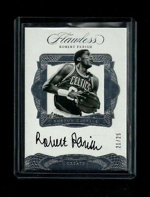 Robert Parish 2016-17 Flawless GREATS Auto #/25! ON-CARD! Boston Celtics LEGEND!