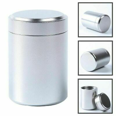 Airtight Smell Proof Container Herb Stash Jar Metal Sealed Can Tea Jar Gift