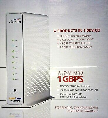 ARRIS SURFBOARD SVG2482AC Docsis 3 0 Cable Modem WiFi Router XFINITY