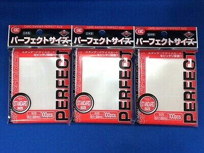 Set of 3 KMC CARD 100 PERFECT SIZE SOFT SLEEVES 89x64mm for pokemon MTG
