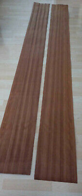 Wood Veneer - Dark Mahogany Sapele Real Wood Veneer Sheet -  2616mm x 254mm