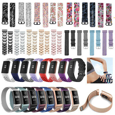 For Fitbit Charge 3 Watch Bands Replacement Silicone Diamond Bracelet Wristbands