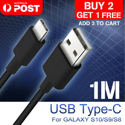 USB Type C Rapid Charge Charging Data Cable For Huawei P30 P20 Pro Samsung S10 +