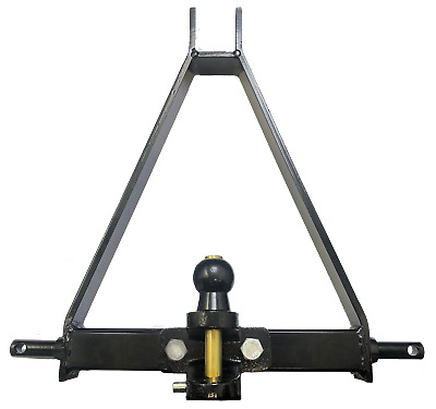 3 Point Linkage Tow Hitch Compact Tractor A Frame 1500Kg Duel Hitch Cat1