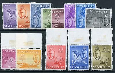 Seychelles 1952 short set to 2r.25 SG158/70 MM/MNH - marginal copies are MNH